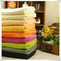 Free Shipping Waste-absorbing 100% cotton soft bath towel solid color plain towel 50 times . 100