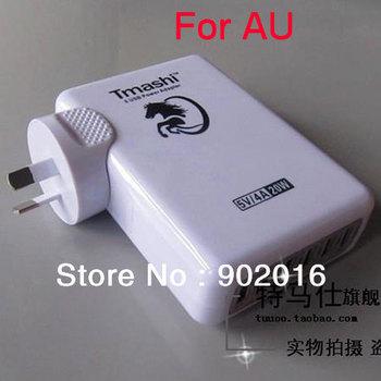 1pcs free shipping Tmashi AU plug 5v 4A 6USB charger for iPhone /ipad mobile phones