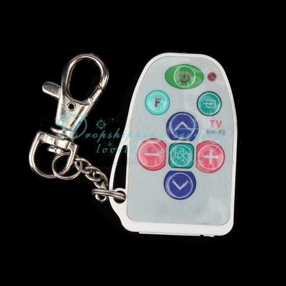 Universal IR Mini TV Remote Control Keychain(China (Mainland))