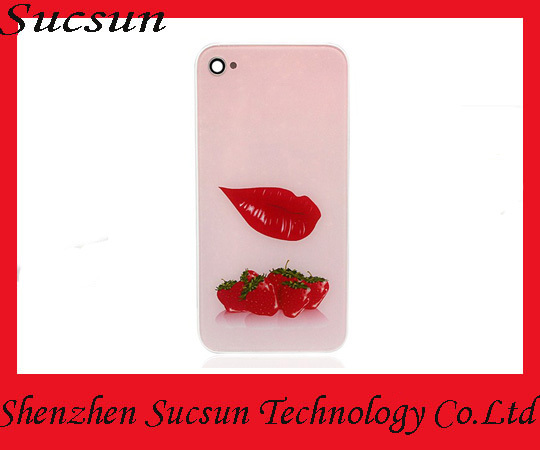 Unique design fruit and animal pattern back cover assembly for iphone 4g housing cover with DHL free shipping(China (Mainland))