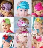 Wholesale Beautiful Feather Headband hairband Baby Girls headbands Head hair bands children Christmas gift