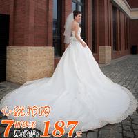 Free shipping 2013 wedding tube top princess big train wedding dress spring wedding dress