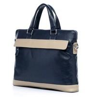 2013 Trendy Colorblock Business Bag For Men Messenger Bag For Men / 2013 Patchwork Real Leather Men's Bag / (BN005)