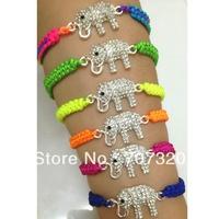 2013 wholesale 45% off cheap 10 pcs elephant macrame shamballa bead bracelet / bangle with free shipping