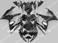 gloss black silver body for SUZUKI GSXR600 GSXR750 06 07 GSX-R600 GSX-R750 06-07 GSXR 600 750 2006 2007 2006-2007 fairing kit