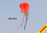 Colorful Tail Octopus Soft Chinese Outdoor Sport Flying Kite - 5.5m long Kid Toy Gift/retail and wholesale!!!