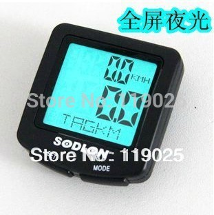 Outdoor Bike Bicycle Computer Bike Stopwatch Luminous LED display Odometer Speedometer odometer