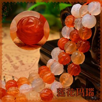 8мм натуральный кристалл агата лотоса 48pcs/lot свободной Модный бисер шарики ювелирных изделий ювелирных изделий.