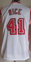 #41 Glen Rice Men's Authentic Home White Throwback Basketball Jersey