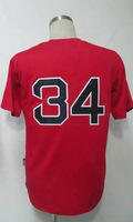 #34 David Ortiz Men's Authentic Alternate Home Red Cool Base Baseball Jersey