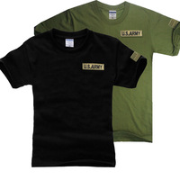 Summer male military o-neck loose 100% cotton short-sleeve T-shirt d004 male short-sleeve