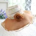 Women's sunbonnet flower sun hat female summer outdoor folding sunscreen big beach cap