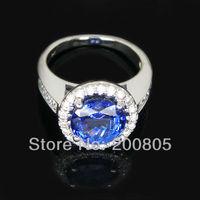 Jewelry Sets 14kt White Gold 4.52Ct Diamond & AAAA Tanzanite Wedding Engagement Ring