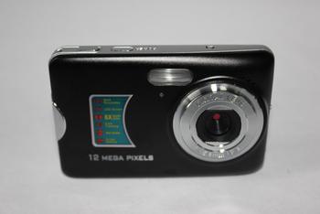 "freeshipping 12.0 MP 2.7""TFT LCD DIGITAL CAMERA 8 x digital zoom Anti-shake rechargeable lithium battery, camera bag"