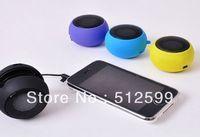 Wholesale 10pcs/lot DHL fast shipment Mini Hamburger Portable Speaker multi color with retail package