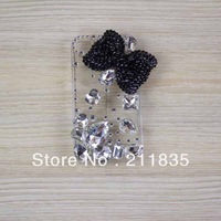 Deluxe 3D Bow Butterfly Bling Diamond Case For iPhone 4 4G 4S