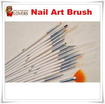Free shipping 15 pcs professinal Nail Art Brush Set Design Painting Pen, for natural/false and 3D Beauty