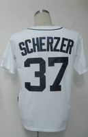 #37 Max Scherzer Men's Authentic Home White Cool Base Baseball Jersey