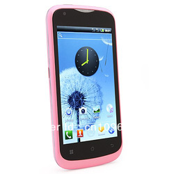 "Hot sale New Unlocked 4.0"" Capacitive Touch Android 4.0 MTK6517 WIFI GSM Dual Sim Smart phone AT&T T mobile white color(China (Mainland))"