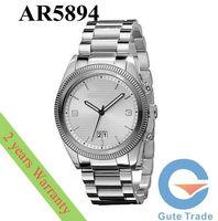 Fashion AR5894 Men's Watch Hardlex Glass Date Quartz Dive Watches Stainless S. Wristwatch Free Ship With Original box