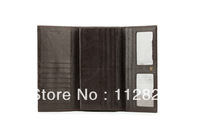 2013  Free Shipping Multifunction Card Triple Layer Storage Space Bown Color Wan's Money Clips