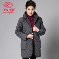 Fashion mother clothing winter  women's long design wadded jacket with a hood cotton-padded jacket plus size