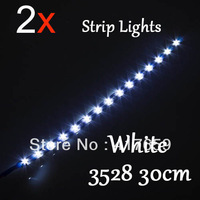 2pcs/Lot 30cm 15 SMD LED Flexible Strip Car Daytime Light Waterproof Wholesale Dropshipping