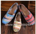 3 Colors Brand Fashion Canvas Flat Shoes Classic Shoes Multicolour Stripe Casual Sneakers PDX74Free Shipping