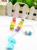 Wholesale 30set a lot Acrylic  colorful cute children's girls jewelry set necklace bracelet sets kid jewelry HR77