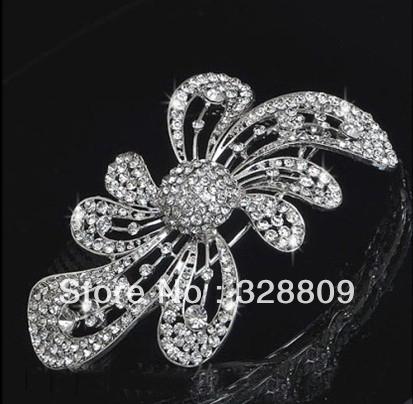 2013 New style 100% rhinestone luxurious crystal wedding Hairpins bridal hair combs retail / wholesale(China (Mainland))