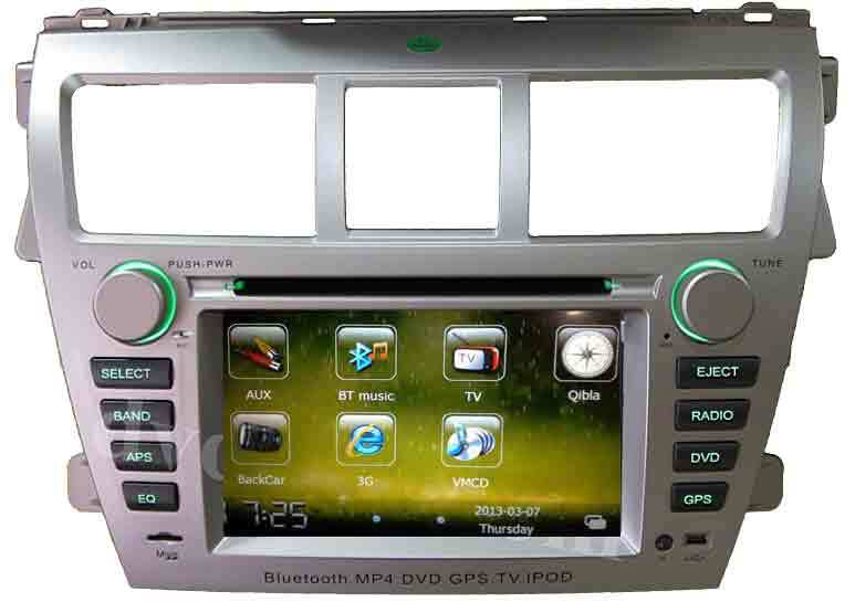 Toyoda VIOS car dvd player Radio GPS Navigation Head units Ipod 3G internet RDS 6Virtual CDs(China (Mainland))