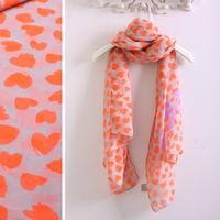 Fashion Excellent orange of love thin scarf silk scarf sun cape 190*76cm woman scarf wraps free shipping