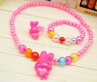 Wholesale 30set a lot Acrylic  colorful cute children's girls jewelry set necklace bracelet sets kid jewelry HR102