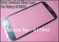 Brushed Grey Outer Screen Glass Lens Gray Screen Digitizer Cover Glass for Samsung Galaxy S3 i9300 Free Shipping