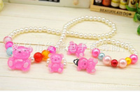 Wholesale 30set a lot Acrylic  colorful cute children's girls jewelry set necklace bracelet sets kid jewelry HR101