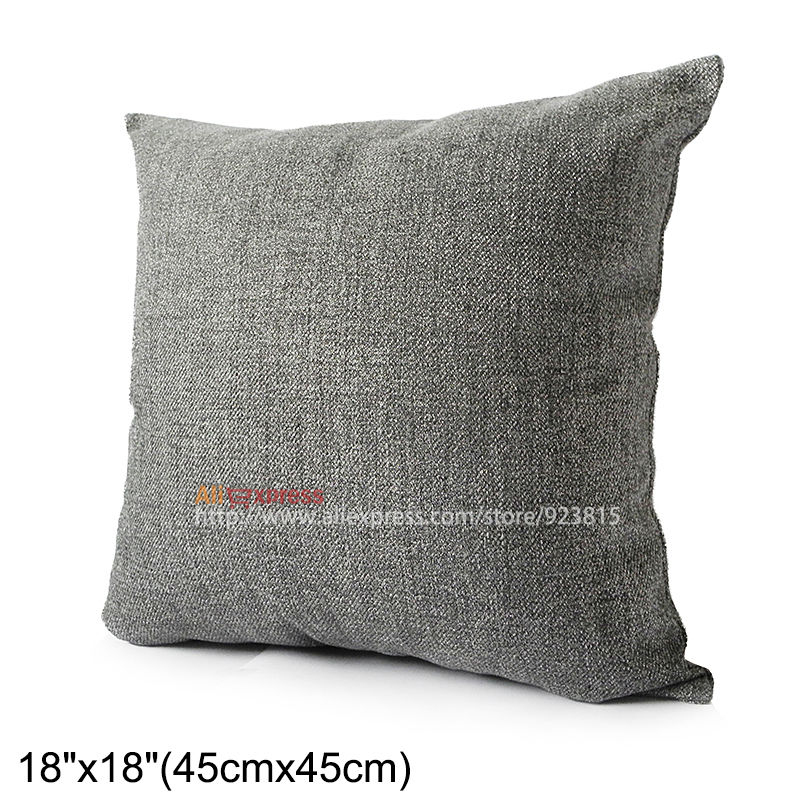 "Morden Dark Grey Plain linen cotten Pillow Case/Cushion Cover 18""(45cm) Customized HSK1020370D(China (Mainland))"