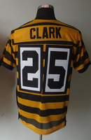 #25 Ryan Clark Men's Elite Alternate 80th Anniversary Throwback Yellow Football Jersey