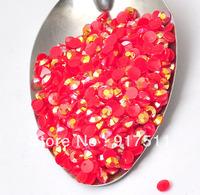 2000pcs 3mm  RED acrylic flatback resin AB rhinestone cabochon glitter 3D nail art supplies diy phone case decorations