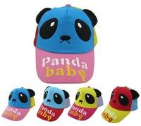 New arrival summer kids baseball cap children snapback hats panada baby free shipping