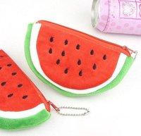 Creative Soft plush coin purse Watermelon style change purse 24 pcs/lot