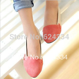 Big Discount! Hot selling 2013 New Women's Casual Comfort Ballet Patchwork Low Heels Flats Loafers Shoes 4 Color Free Shipping