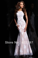 2013 high full-length lace beading Long Fashion Prom Dress