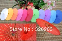 5pcs/lot free shipping silk wedding parasol nylon umbrella with several colors available