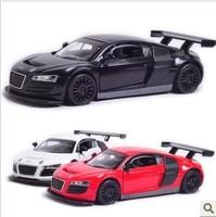 Children gift !!!! Alloy car model toy 1:32 AUDI -R8 Pull Back toy, light alloy car model