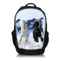 """Horse Laptop Netbook Backpack Bag Double Shoulder For 15.6"""" Dell Alienware M15x"""