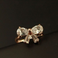 16or17 fashion ring pinky ring gold exquisite zircon female z14106