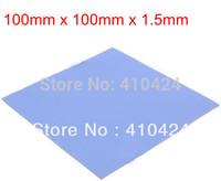 2pcs/lot Blue Thermal Pad GPU CPU Heatsink Cooling Conductive Silicone 100mm*100mm*1.5mm FREE SHIPPING