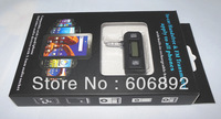 Free Shipping Wireless 3.5mm FM Transmitter for iPhone & all mobile phones & mp3 hands-free calls car with retail box