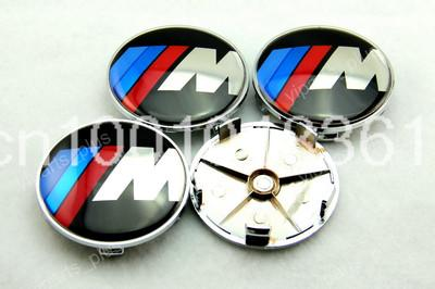 4x 68mm Wheel Center Hub Caps For BMW ///M 3 5 6 M3 M5 M6 Z3 Z4 E36 4pcs/set(China (Mainland))