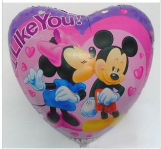 "PT0063 HUMONGOUS 34"" Inch Big Minnie Micky Cartoon Balloon, Valentine Dating Balloon, 5pcs/lot, free shipping"
